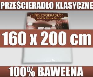 Prześcieradło Bawełniane 160x200 Bawełna 100 Bez Gumki Ematexpl